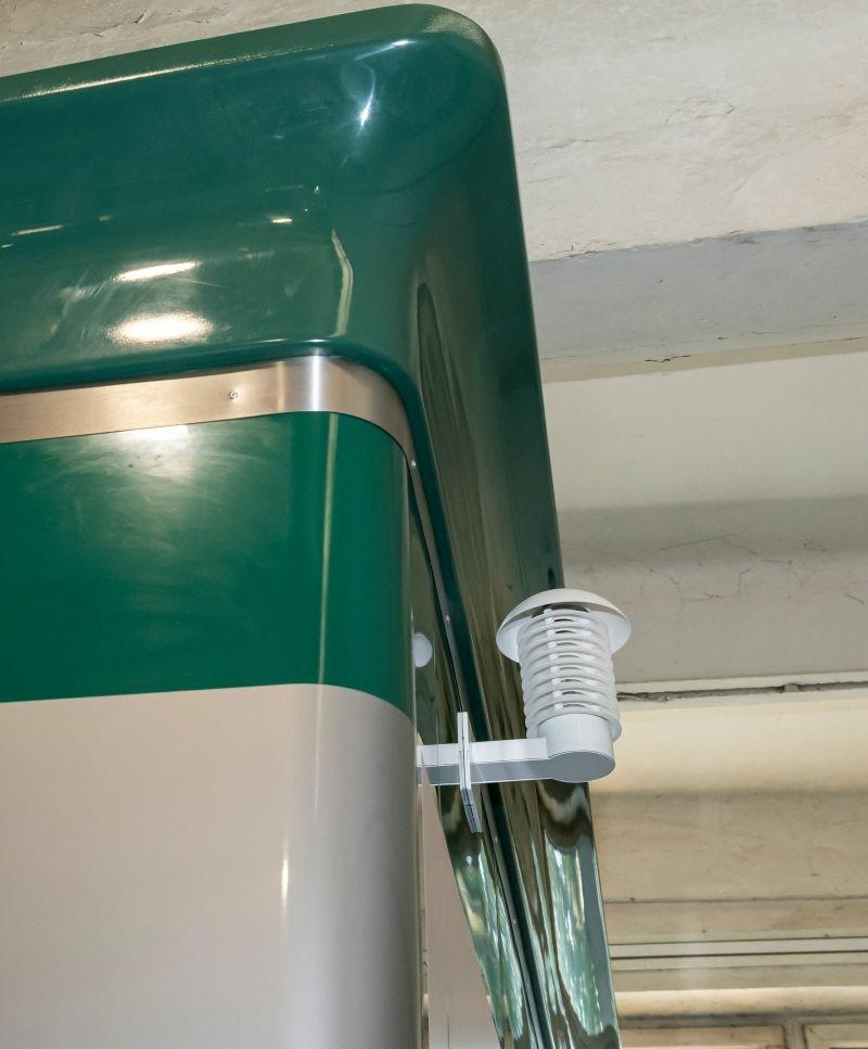 Okos WC, Nyilvános WC, külső hőmérséklet mérése